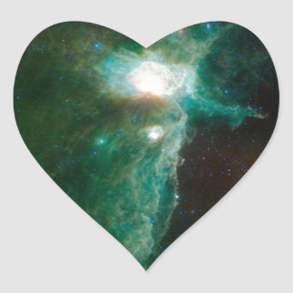 Space Nebula Heart Sticker