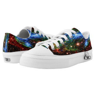 Space Nebula Printed Shoes
