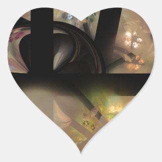 'Space' Original Artwork by Splendid Stones Heart Sticker