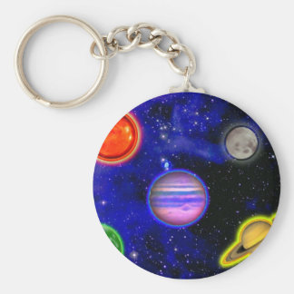 Space Painting Keychain