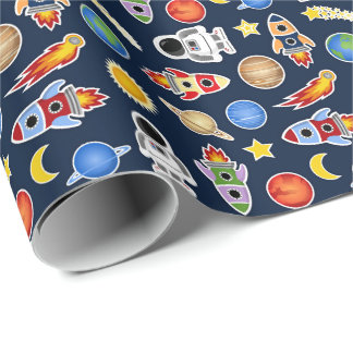 Space Party Wrapping Paper