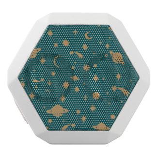 Space pattern white boombot rex bluetooth speaker