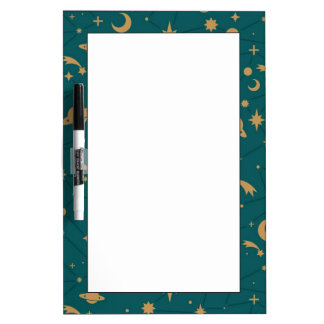 Space pattern dry erase board