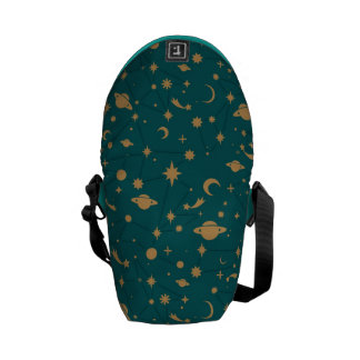 Space pattern messenger bag