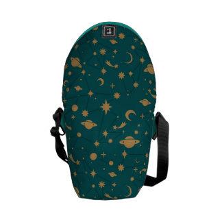 Space pattern messenger bag