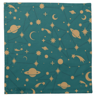 Space pattern napkin
