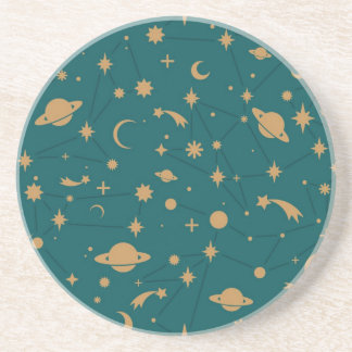 Space pattern sandstone coaster