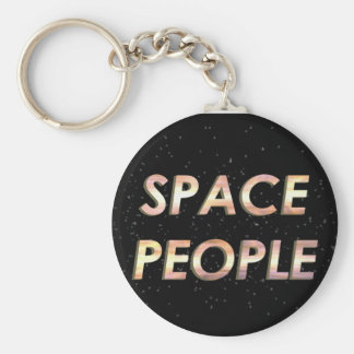 Space People - The Keychain! Basic Round Button Key Ring
