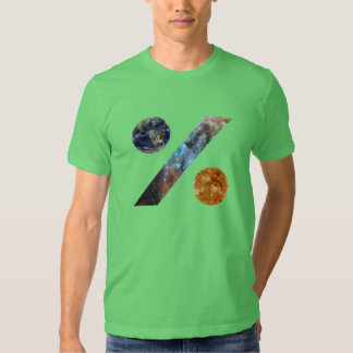 space percent t-shirt