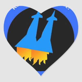 Space Pilot Heart Stickers