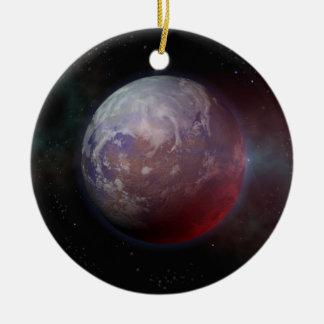 Space Planet Round Ceramic Decoration