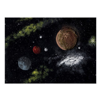 SPACE: PLANETARY SYSTEM v.2 (large) ~ Poster