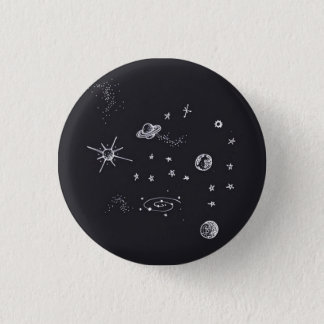 Space Planets 3 Cm Round Badge