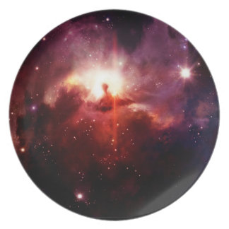 Space Plate 3 - red galaxy