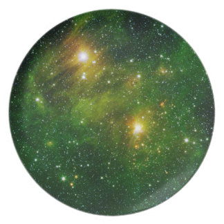 Space Plate 6 - Green Nebula