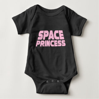 Space Princess - Baby Jersey Bodysuit (Black)