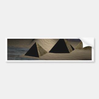 Space Pyramids Bumper Sticker