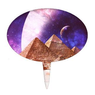Space Pyramids Cake Pick