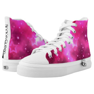 Space Queen High Tops Printed Shoes
