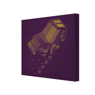 Space Racing Purple Gold Longhaul Conventional Cab Canvas Prints