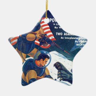 Space Rhino Christmas Ornament