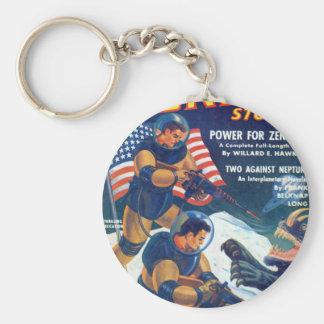 Space Rhino Key Ring