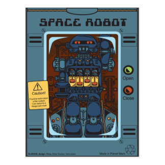 Space Robot Box Postcard