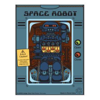 Space Robot Box Toy Postcard
