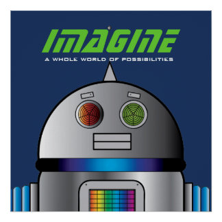 space robot PERSONALIZED POSTER for kid's room