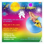 Space Rocket Astronaut Birthday Party Invitation 2