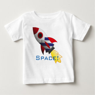Space rocket baby shirt