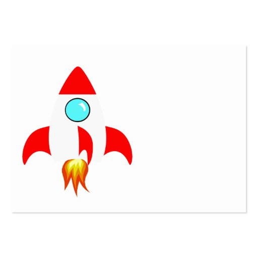Space Rocket Business Card