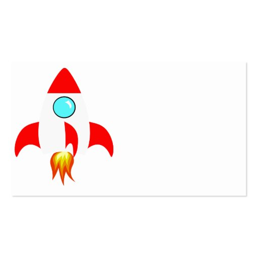 Space Rocket Business Card Template