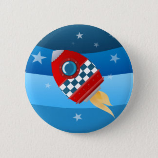 Space rocket - button badge