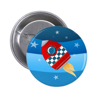 Space rocket - button badge