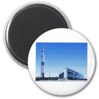 Space & Rocket Center of Huntsville, Alabama 6 Cm Round Magnet