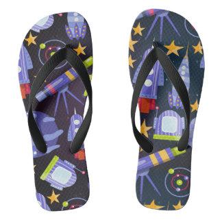 Space Rocket Flip Flops
