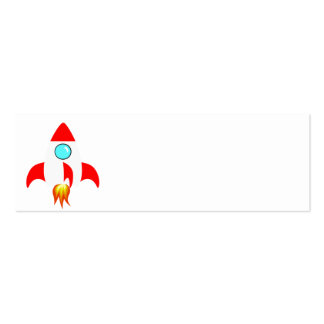 Space Rocket Pack Of Skinny Business Cards