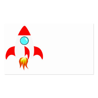 Space Rocket Pack Of Standard Business Cards