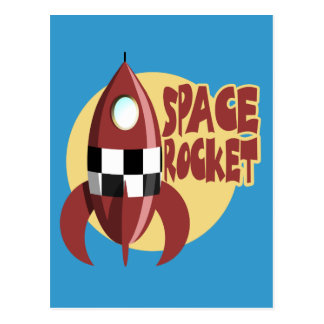 Space Rocket Post Card