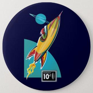 Space Rocket Ride 6 Cm Round Badge
