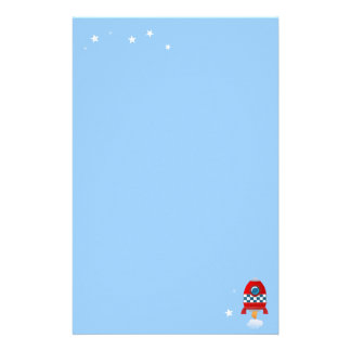 Space rocket - stationary stationery paper