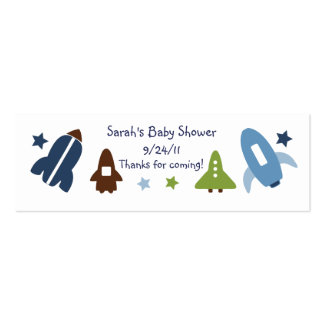 Space Rockets & Stars Favor/Tags Pack Of Skinny Business Cards