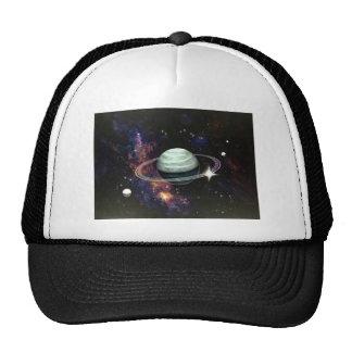 Space, Saturn Rings & Moons Trucker Hats