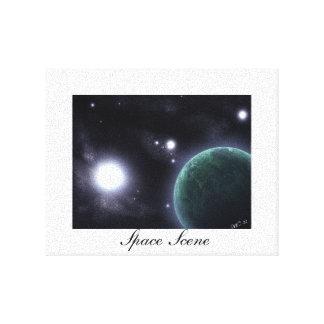 Space Scene Canvas Canvas Print