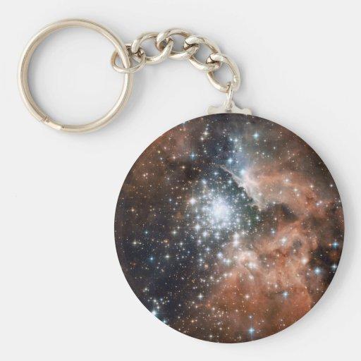Space scene keychain