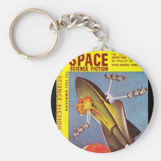 Space Science Fiction v01 n03 (1952-11.Space)_Pulp Basic Round Button Key Ring