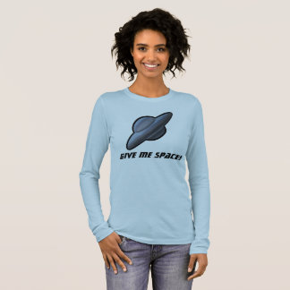 SPACE SCIFI UFO FLYING SAUCER by Jetpackcorps Long Sleeve T-Shirt