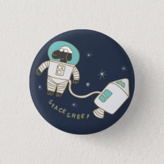 Space Sheep Wordplay Flair Pinback Button