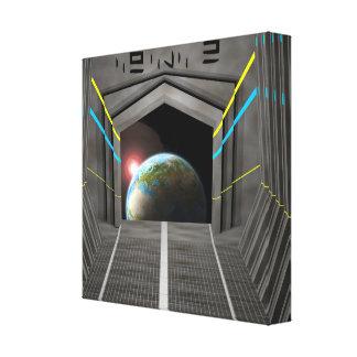 Space Ship Gallery Wrap Canvas